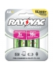 Rayovac PL715-4A - Rechargeable NiMH Battery - AA Size - 2100 mAh Life Capacity - Platinum Series - 4 Pack - Sold by Pack Only